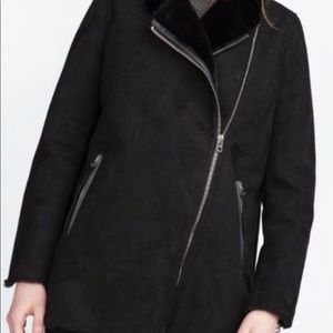 ⭐️SALE⭐️Zara faux suede coat ❤️
